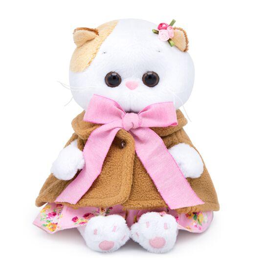 Katze Li-Li BABY in Mantel und rosa Sommerkleid