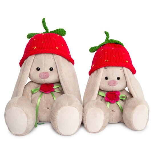 "Bunny Mi in knitted hat ""Strawberry"""