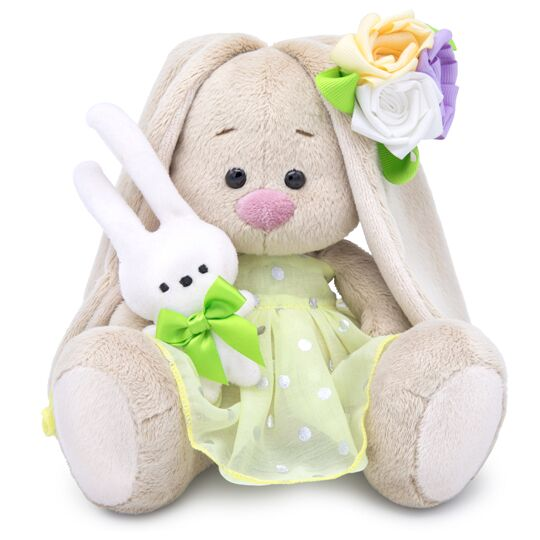 Zaika Mi with a bunny and with an elegant flower