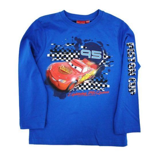 Blaues Langarmshirt – Cars