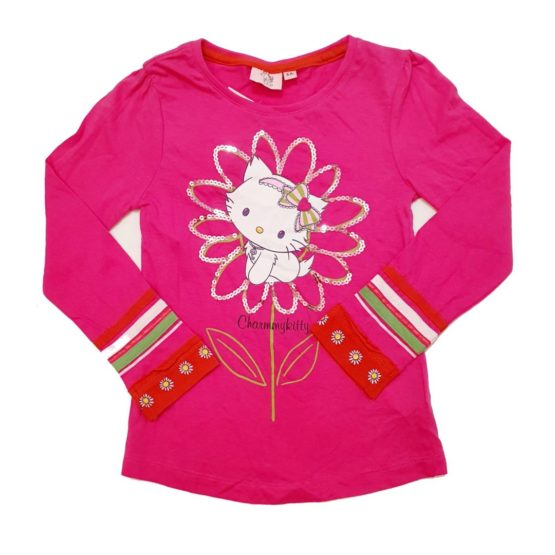 Long sleeve t-shirt with flower – Kitty