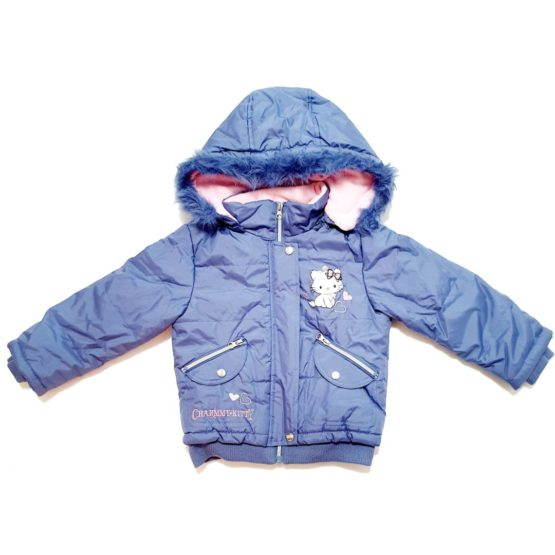 Winter jacket with hood for girls Kitty