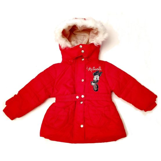 Winter jacket with hood for girls Minnie Mouse