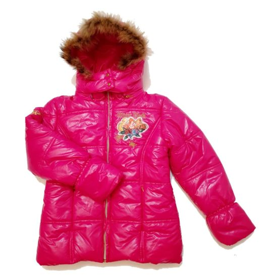 Winter jacket with hood for girls Winx