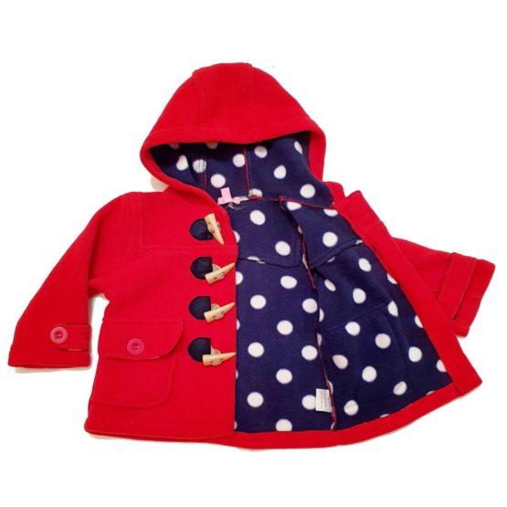 Mantel aus weichem Fleece – Rot