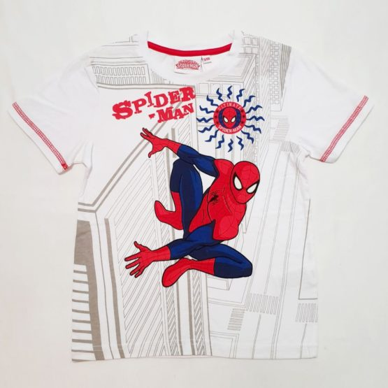White T-shirt – Spiderman
