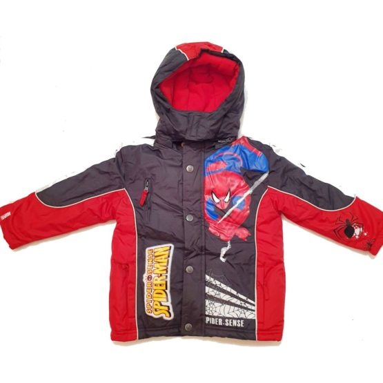 Winter jacket with hood for boys – Spider Man