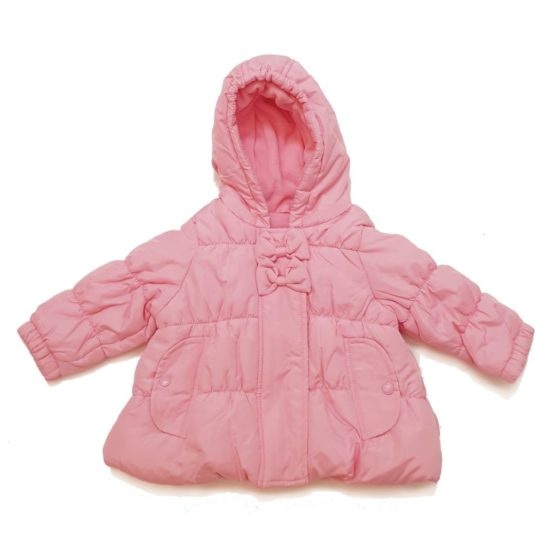 Winter jacket with hood for baby