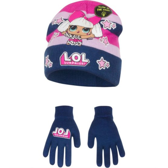 LOL Surprise hat with gloves Glow in the dark