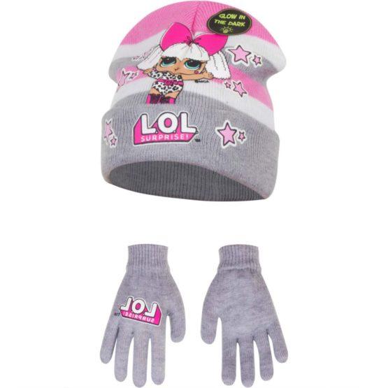 LOL Surprise Mütze mit Handschuhe Glow in the dark