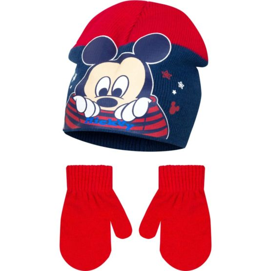 Mickey Baby with gloves – red