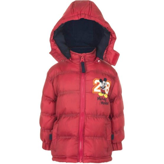 Mickey Baby winter jacket – red
