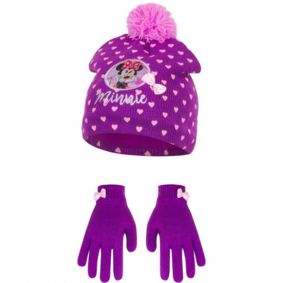 Minnie hat with gloves
