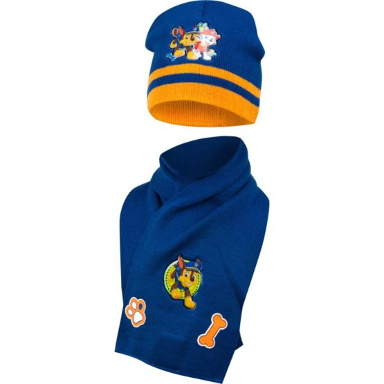 Paw Patrol hat with scarf – blue