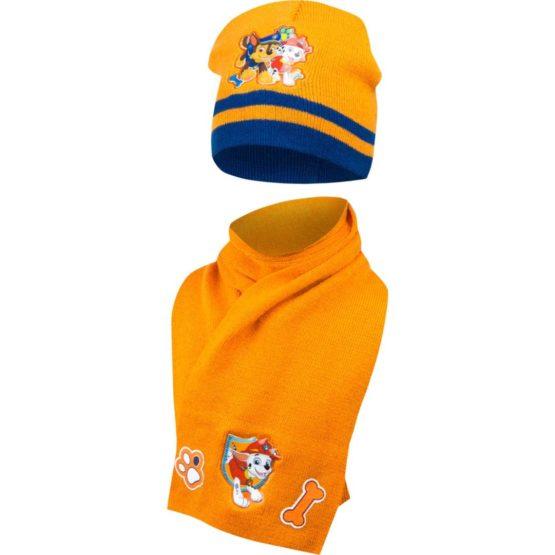 Paw Patrol Mütze mit schal – orange
