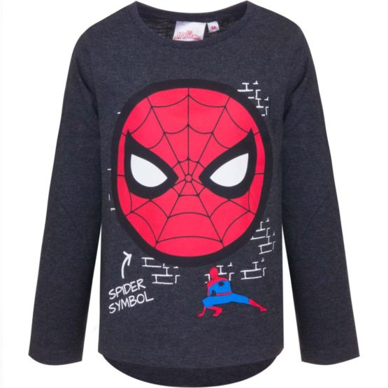 Spiderman Langarmshirt – schwarz
