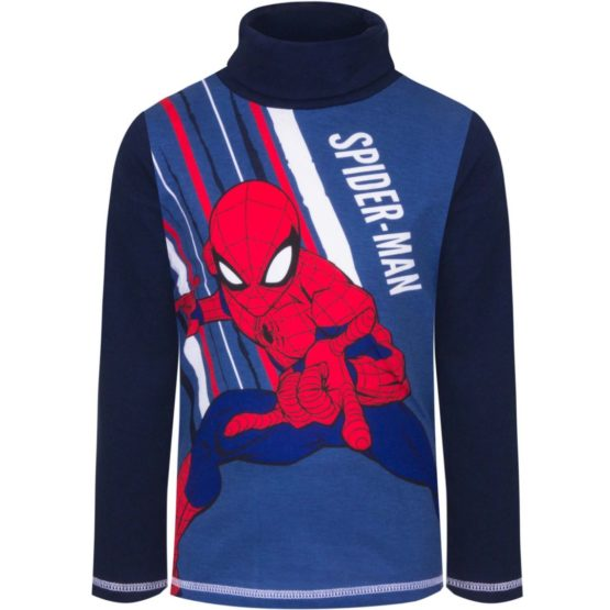 Spiderman longsleeve with collar – blue