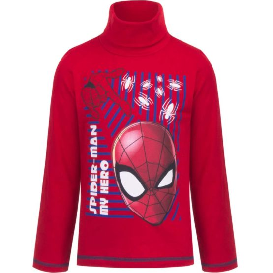 Spiderman longsleeve with collar – red