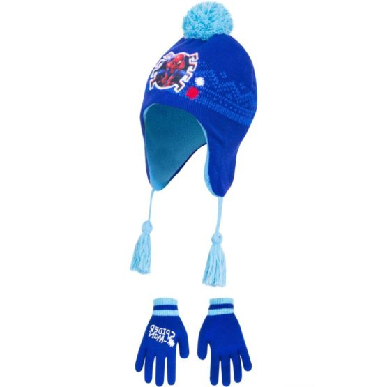 Spiderman hat with gloves