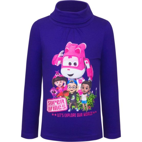 Super Wings longsleeve with collar