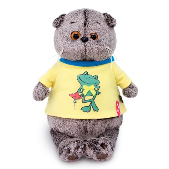 """Cat Basik in """"Frog"""" T-shirt"""