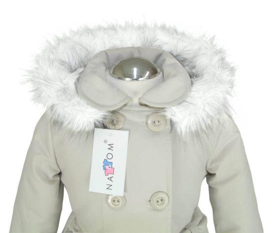 Herbst- Winterjacke Mit Kapuze Für Mädchen - Nat & Tom - Beige