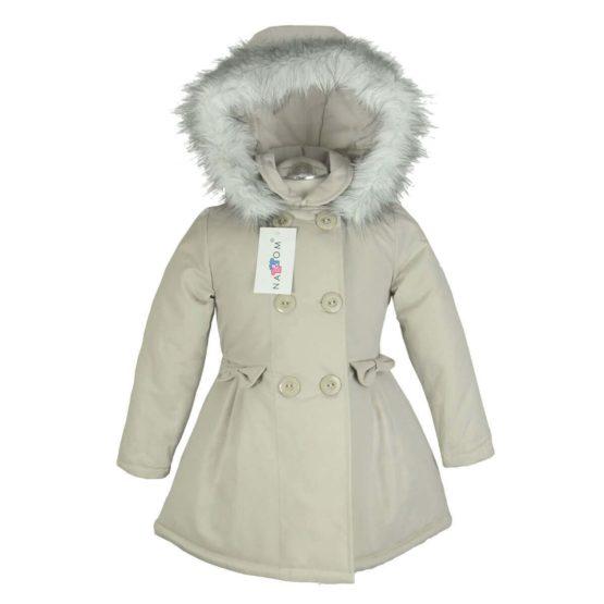 Autumn winter jacket with hood for girls – Nat & Tom – beige