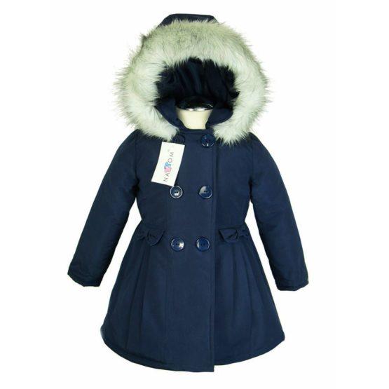 Herbst- Winterjacke Mit Kapuze Für Mädchen - Nat & Tom - dunkelblau