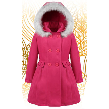 Autumn winter jacket with hood for girls – Nat & Tom