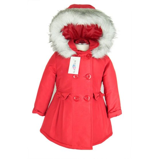 Herbst- Winterjacke Mit Kapuze Für Mädchen - Nat & Tom - rot