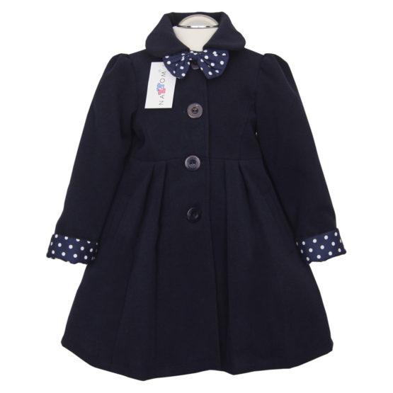 Elegant Coat For Girls Nat & Tom – Dark blue