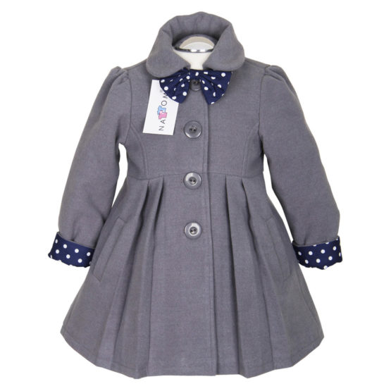 Elegant Coat For Girls Nat & Tom – Gray
