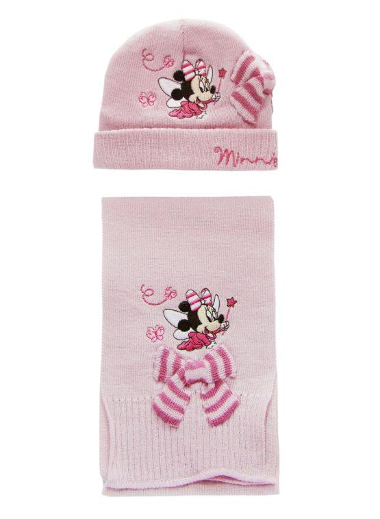 Mütze mit Schal für Mädchen - Minnie Mouse