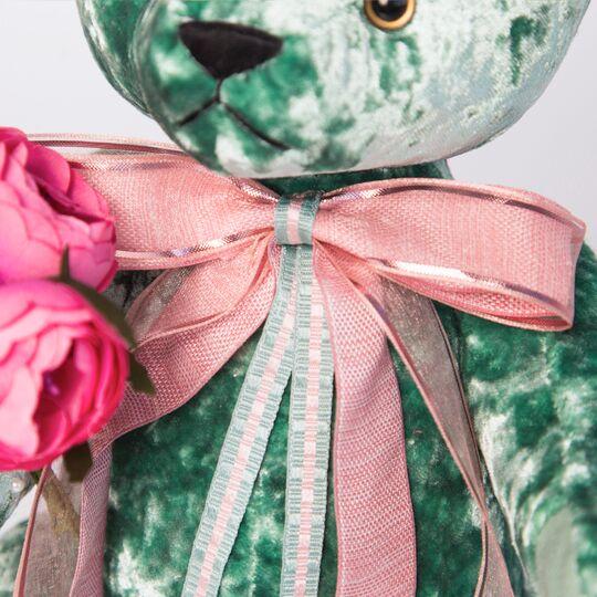 Teddybär BernArt, 30cm Smaragd tolles geschenk