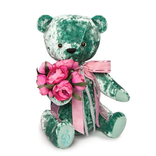 Teddybär BernArt, 30cm – smaragdgrün