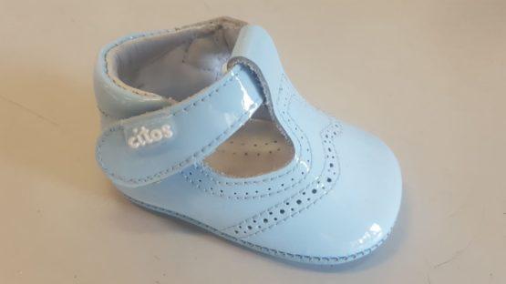 Blaue Baby Lederschuhe - Citos