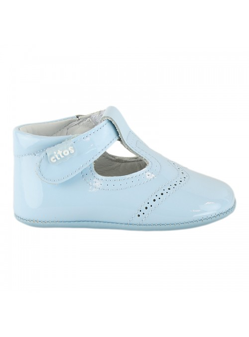 Blue Baby Leather Shoes – Citos