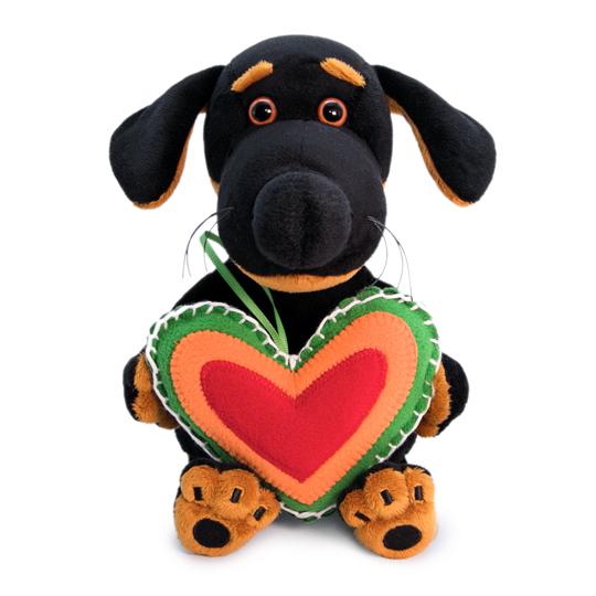 Baby Dog Vakson with a fleece heart