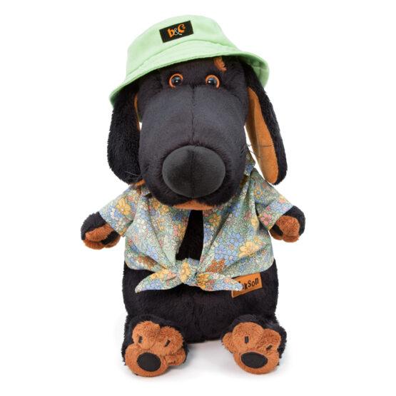 Hund Vakson mit Panamahut ca. 29Cm groß