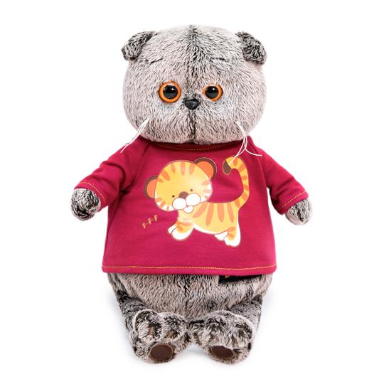 """Katze Basik im T-Shirt mit """"Tiger Cub"""" Print"""